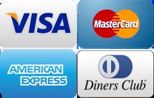 visa・mastercard・american express・diners club